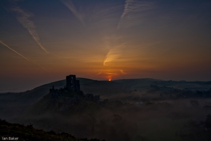 Sunsise over Corfe