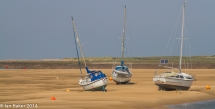 Yachts aground Wells NTS